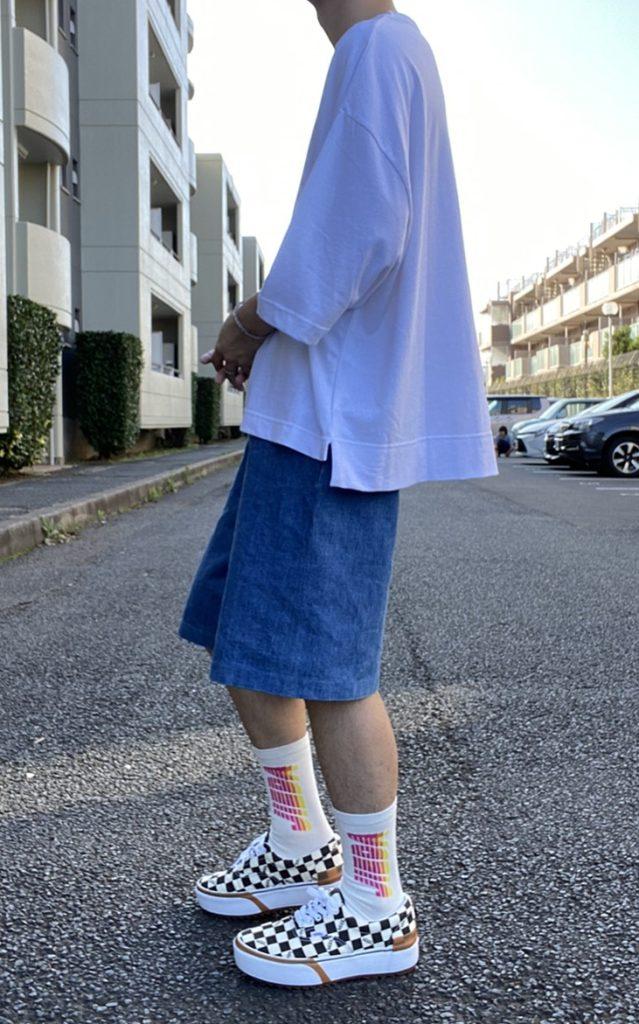 alt=メンズ ファッション 白T