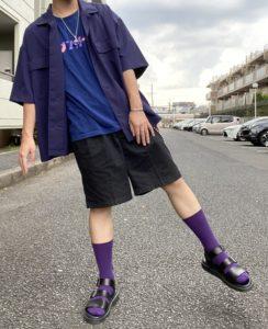 alt=紫 コーディネート